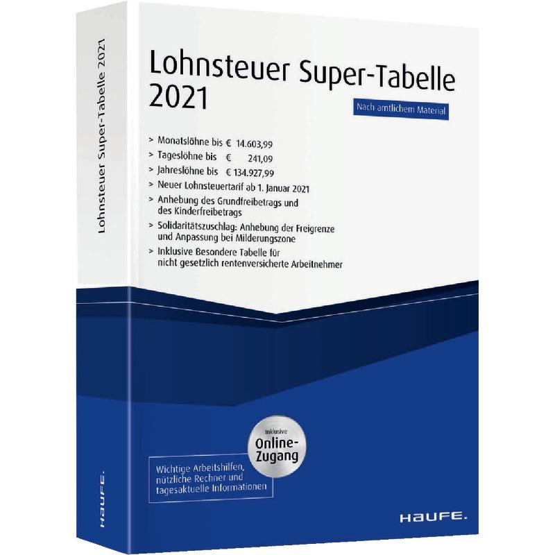 Lohnsteuer Super-Tabelle 2021   Dreske.de